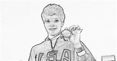 Coloring Page For Wilma Rudolph | wilma rudolph coloring pages az coloring pages