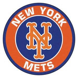 New york mets logo roundel mat 27 round area rug