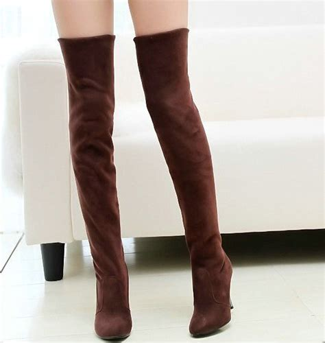 fashion jackboots the knee boots for faux suede