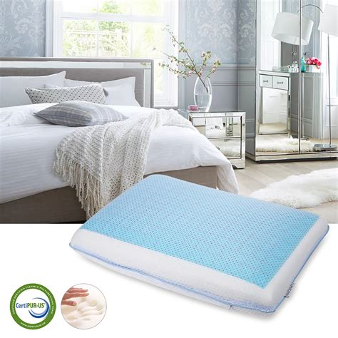 bed pillows for neck pain memory foam bed pillow neck pain relief cooling gel pad