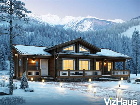 house for winter gallery 3d home architectural visualization