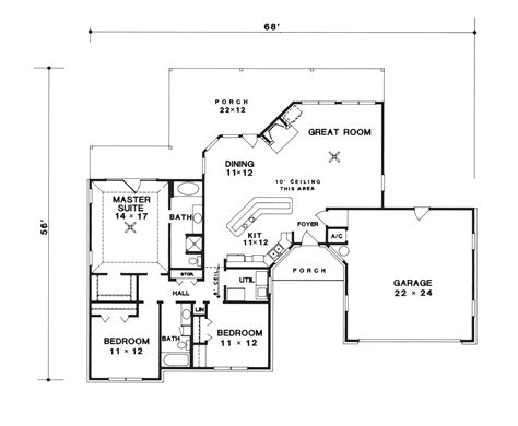 custom plans doren ranch home plan 069d 0050 house plans and more