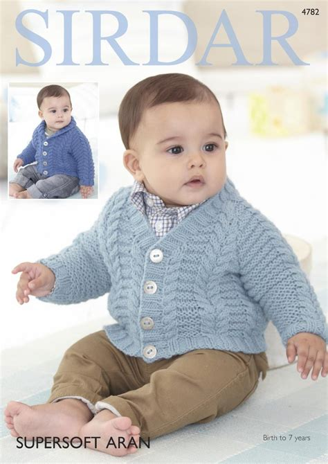 sirdar baby knitting patterns free sirdar 4782 knitting pattern baby boys cardigans in sirdar