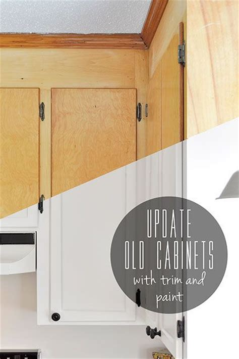 how to update kitchen cabinet doors update old flat front cabinets by adding trim to the doors
