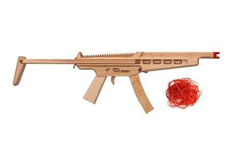 like whoa mp model mp5 rubber band machine gun with sliding stock