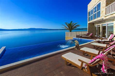 wohnung mit pool mieten luxusvilla in kroatien mit privatem strand pool und