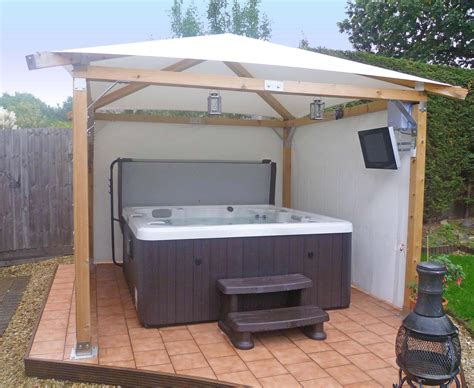 gazebo tv pin add gazebo side screens and wooden balustrading to