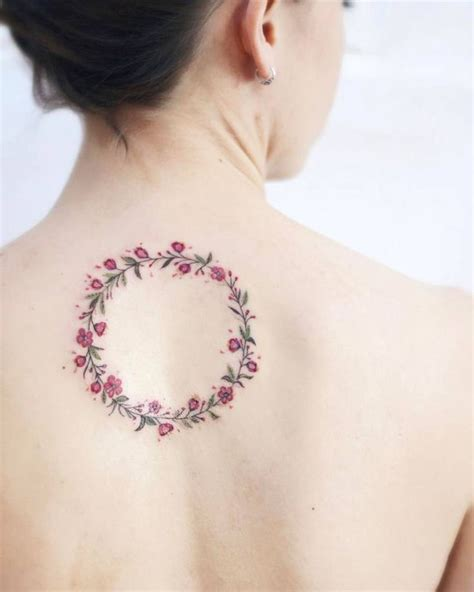 rose wreath tattoo best 25 small colorful tattoos ideas on