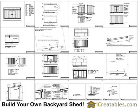 Shed Parts List by 8x16 Lean To Shed Plans Storage Shed Plans Icreatables