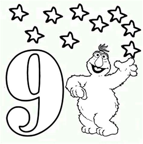 number the stars coloring page number the stars coloring pages coloring pages number 9