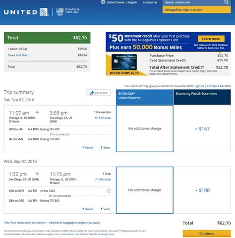 united airlines booking 79 88 chicago to from san diego r t fly com