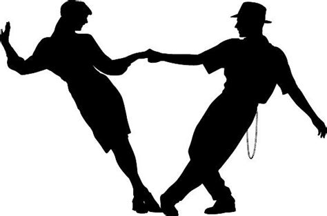 swing danc couple swing dancing silhouette die cut vinyl decal sticker