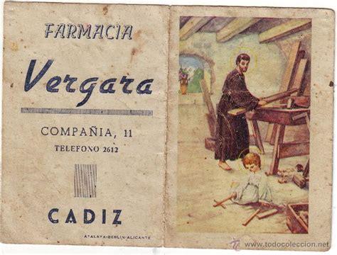 Calendario De 1949 Farmacia Vergara De C 225 Diz 1949 Comprar Calendarios