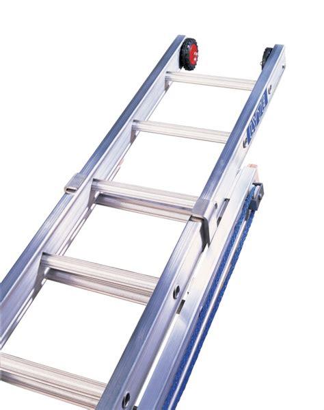heavy duty aluminium rope operated extension ladder three