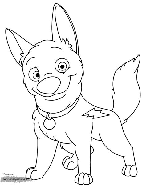 coloring pages of bolt the bolt coloring pages to and print for free