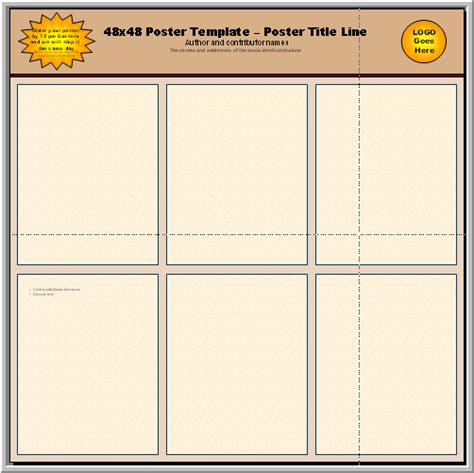 a1 template powerpoint poster presentation template a1 size free