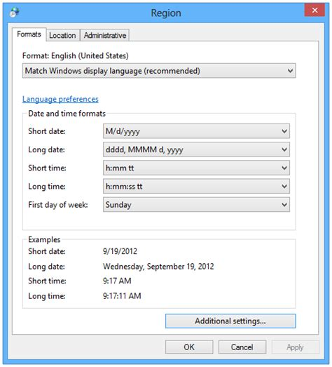 region and language how to change language for non unicode programs in windows