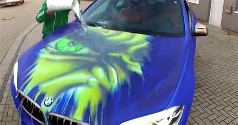 Wassertropfen Technik Lackieren by Bmw X6 Paintjob Reveals Inner When You Pour Water