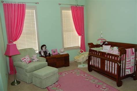 bright nursery curtains light green walls bright pink curtains nursery ideas