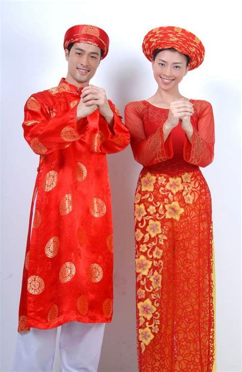 male female traditional dresses vietnamese