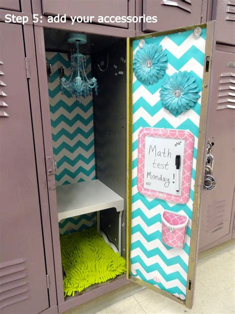 Locker Decorations by 5 Simple Steps To Decorating A Fabulous Locker With Locker