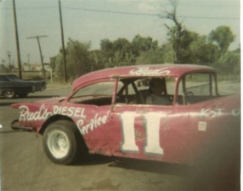 tom hughes racing history vintage kansas stock car racing pics 55 chevy