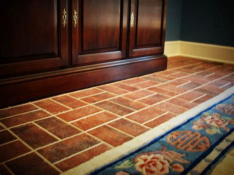 Design Ideas For A Small Kitchen brick tile flooring and brick floor tile lowes image 3 of