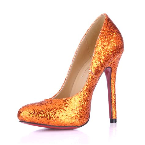 high heel orange high heel shoes fashionate trends