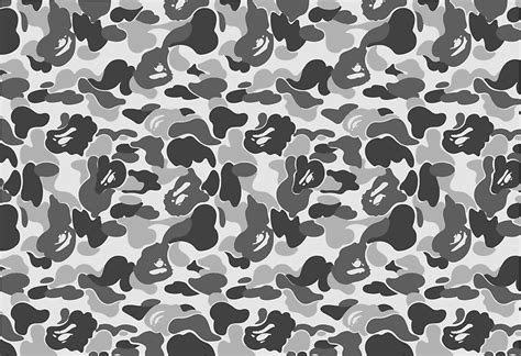 Camo Wall Stickers quot bape camo greyscale black and white quot stickers by ham523