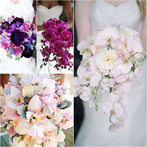 Orchid Wedding Bouquet by Orchid Wedding Bouquets In Brilliant Colors Modwedding