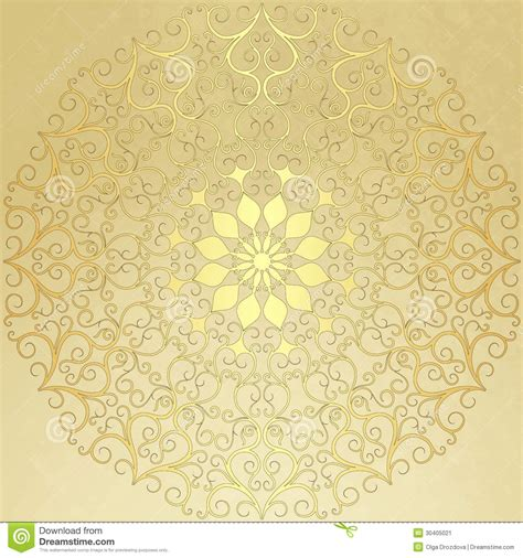 old paper pattern vector old vintage paper with gold round pattern stock image
