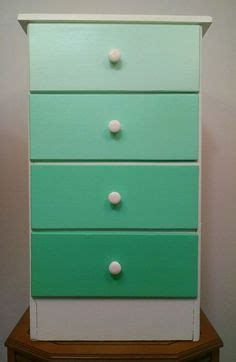 shades of blue ombre chest of drawers dresser changing painted vintage mint green ombre dresser chest of drawers