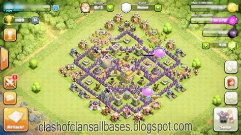 th7 ultimate layout clash of clans ultimate th7 trophy bases clash of clans