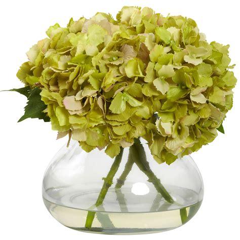 blooming vase 9 inch large silk blooming hydrangea in decorative vase 1357