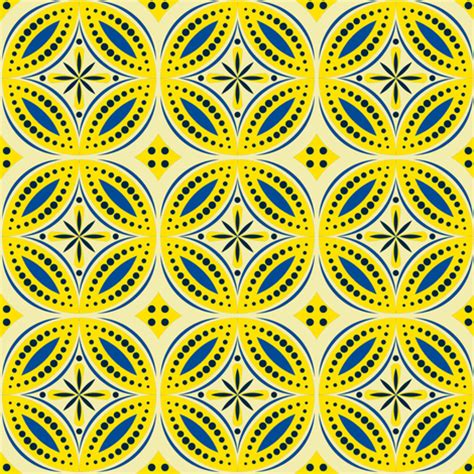 yellow moroccan pattern moroccan tiles blue yellow shannonmac spoonflower