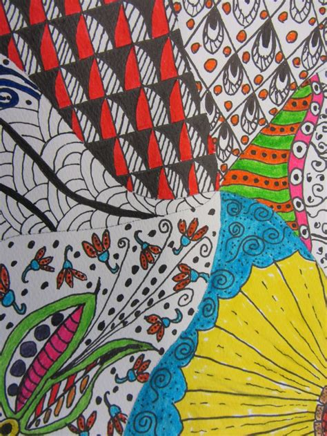 Zentangle By Joe Of Zen Doodle Club Hill Tangle