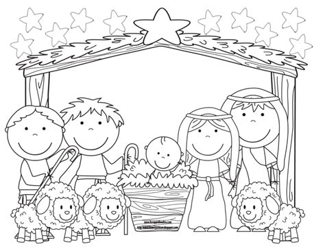 coloring pages christmas pdf birth of jesus b w ptc pdf winter and christmas coloring