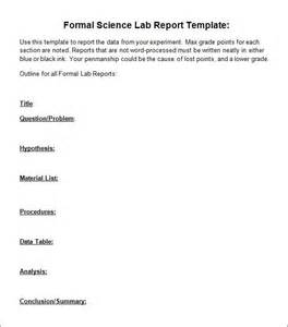 lab template 5 lab report templates
