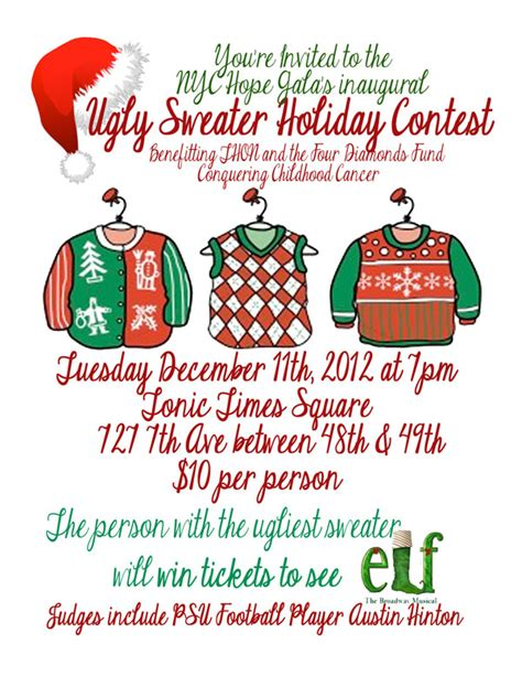 Ugly Christmas Sweater Contest Flyer Happy Holidays Sweater Flyer Template