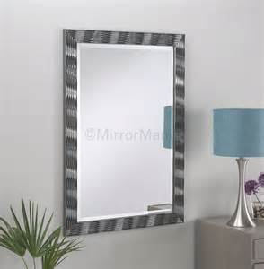 alexei modern grey framed wall mirror