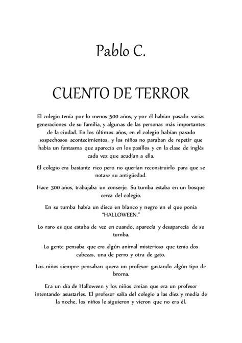 relato de terror corto cuentos de terror