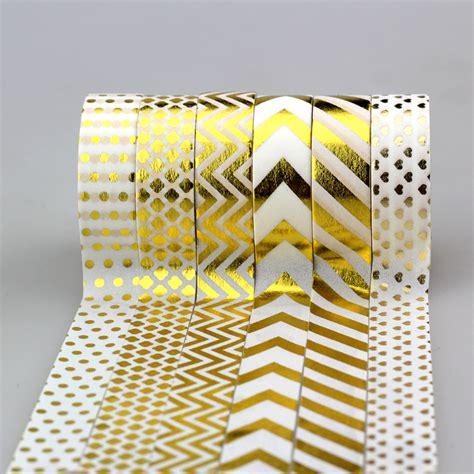 15mm X 10m Foil Masking Washi Selotip Kertas Motif 1 15mm 10m adhesive gold foil masking set diy