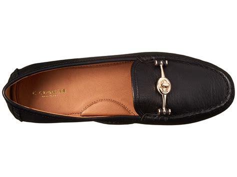 black coach loafers coach arlene black pebble grain leather loafers v19ni78
