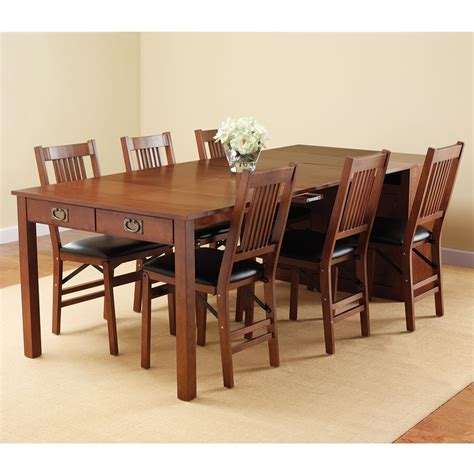 The Expanding Dining Table Hutch Hammacher Schlemmer Dining Table Hutch