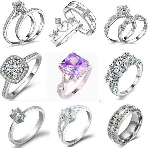 Engagement Ring Fashion by Fashion Silver Plated Rhinestone