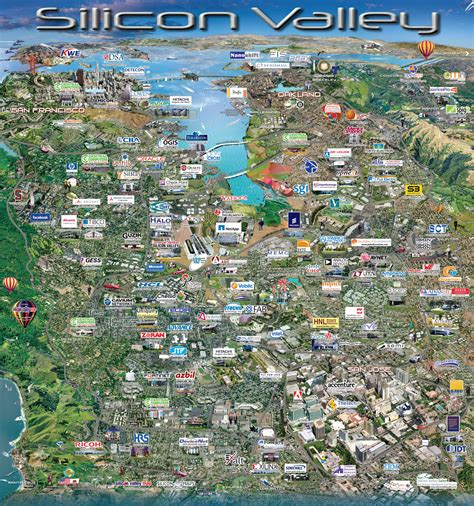 silicon valley usa map silicon valley san francisco california ciudad usa