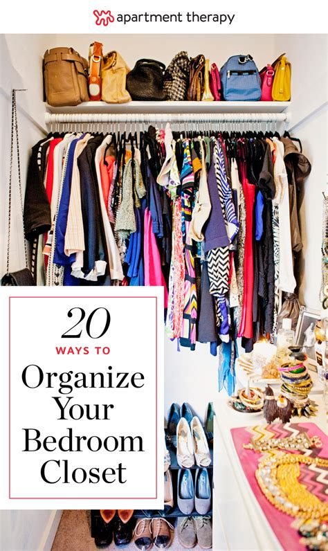 ideas  organizing  bedroom closet apartment therapy