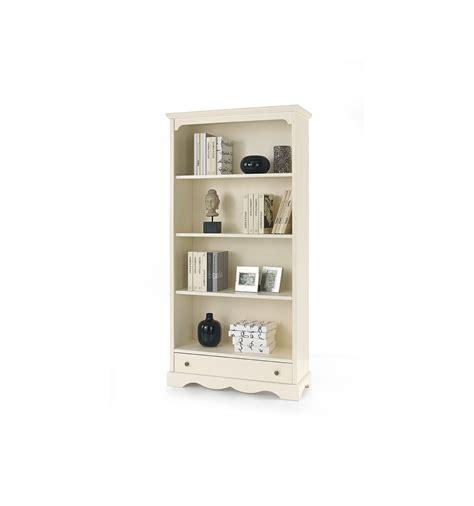libreria classica libreria classica 4 ripiani 1 cassetto laccata avorio w502