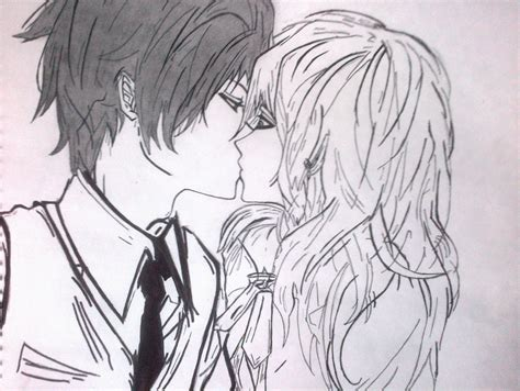 imagenes de amor dandose un beso para dibujar anime kiss beso anime dibujo taringa