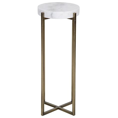 Quartz Side Table Alexia Regency Quartz Antique Brass Side Table Kathy Kuo Home